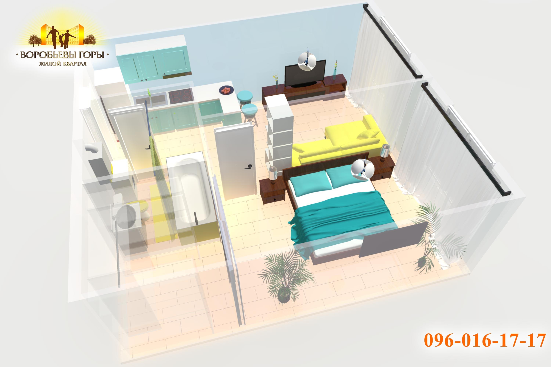 двухкомнатная смарт-квартира