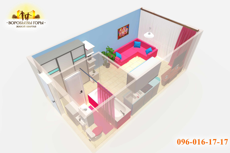 смарт-квартира 23 м2